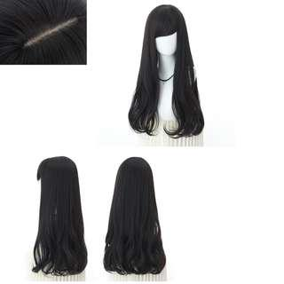 Korean Side Fringe Full Curled Wig for Daily Use (Dark Brown)
