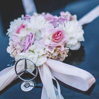 Wedding car decoration flowers design craft carousell singapore ready stock korean style wedding car diy decoration set junglespirit Image collections