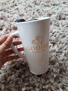 GODIVA Coffee Tumbler Mug Easy to Wash