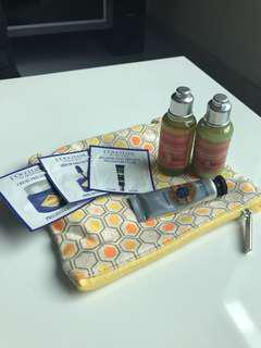 Loccitane beauty set with pouch