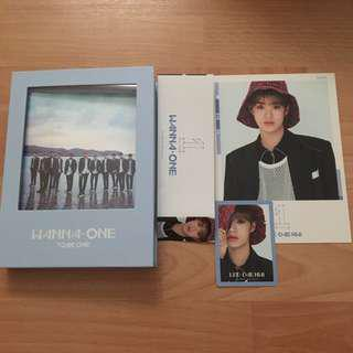 wanna one to be one daehwi set photocard included