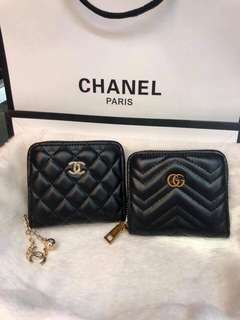 Chanel and gucci wallet