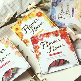 (Pre-order) 40 pieces Flower sticker/adhesives  [8 colours]