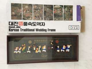 Korean traditional  wedding frame