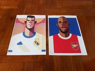 Football Prints (Arsenal, Real Madrid)