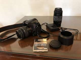 Sony A77 DSLR Camera with accessories
