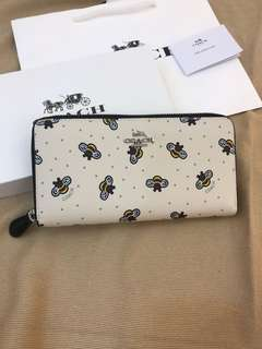 Coach Long Wallet women long purse bee