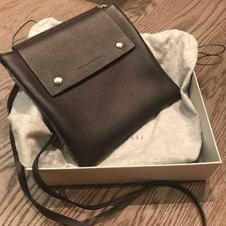 Brunello Cucinelli soft lamb leather pouch