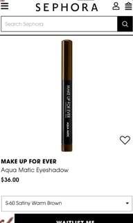 🚚 Sealed aqua matic eyeshadow