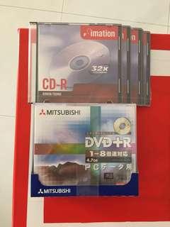 Blank CD & DVD Disks