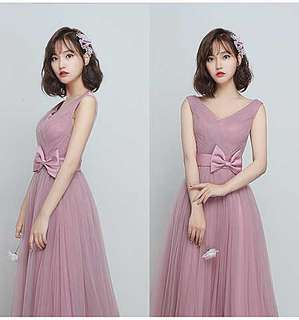 Bridesmaids Dress - Pink Maxi