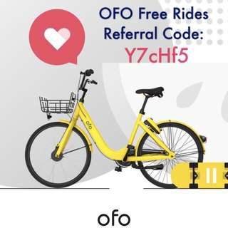 Ofo FOC Free rides #blessing