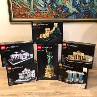 *Bundle* MISB Lego Architecture 21006, 21011, 21020, 21021, 21041, 21042
