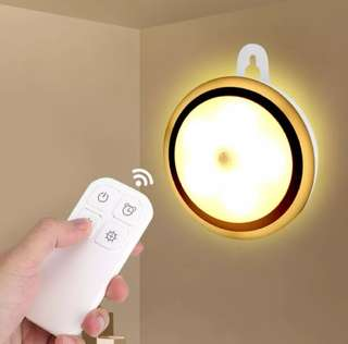 Wireless LED Night Light Remote Control Lamp Rechargeable