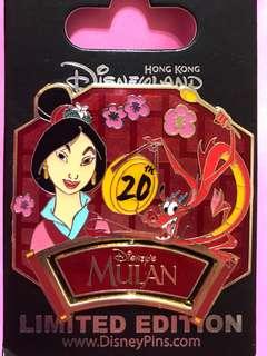 迪士尼襟章 Disney pin LE Mulan 花木蘭
