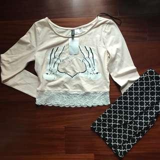 H&M Long sleeves & Pencil Skirt