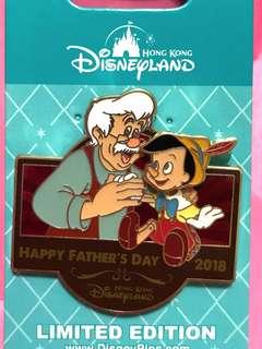 Disney 襟章 LE 500 pin 小木偶 father's day