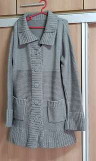 Cable knit jacket