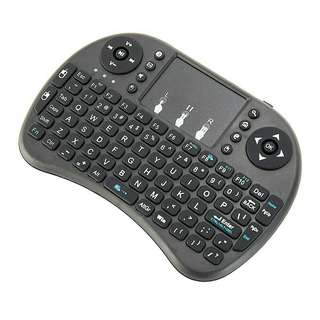 Keyboard mini wireless dengan touchpad