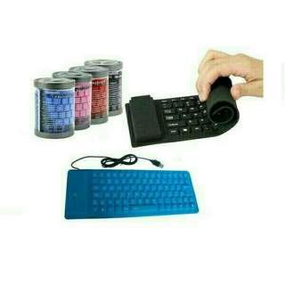 Keyboard gulung flexible
