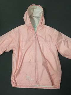 Pink Fleece Rain Jacket