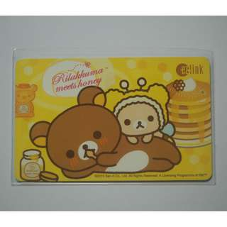 "Sanrio ""Rilakkuma & Honey Bear"" EZ-Link card (Non-Usable)"