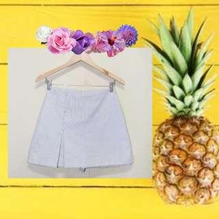 Korean Style Midi Skirt Cream Pastel