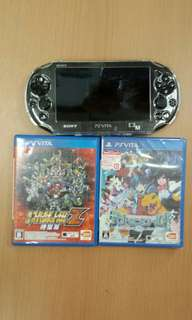 PS Vita Slim set (Used) with 2 games (fixed)