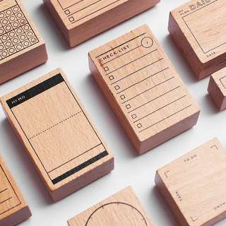 Planner Wooden Rubber Stamp [Pre-order]