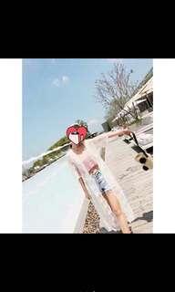 白紗蕾絲罩衫