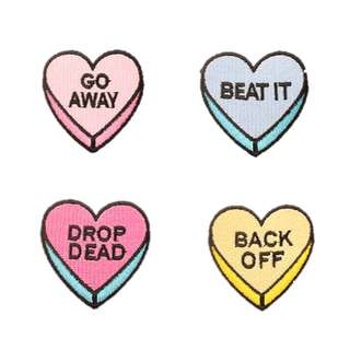 Mini Savage Hearts Embroidered Patches