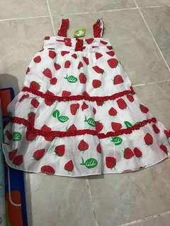 dress strawberry baru