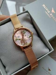 Olivia Burton 錶 玫瑰金
