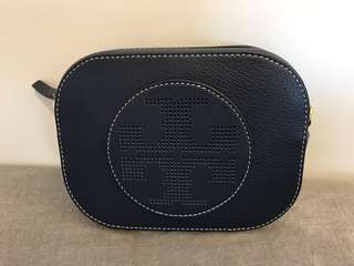 Brand New Tory Burch Navy Leather Cross Body Bag