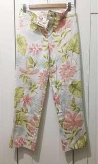Talbots floral stretch pants