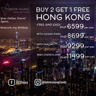 HONG KONG PROMO! BUY 2 GET 1 2018 PROMO! STAY IN A 4 STAR HOTEL
