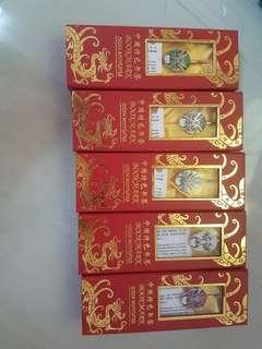 China Mask Bookmark 5 pcs