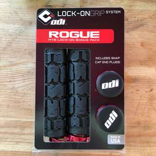 New: ODI Rogue Lock-On Bonus Pack Grips red ( free postage )