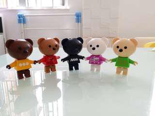 麥當勞 慈善熊 一套5隻