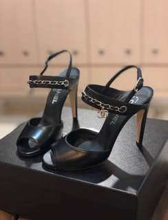 Chanel black heels (new)