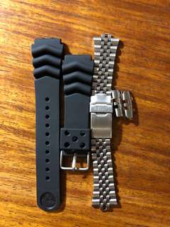 Class A Seiko Rubber strap and steel bracelet
