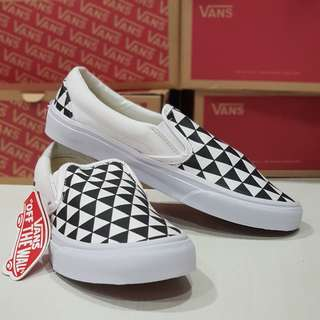 VANS Slip On Stockholm Black and White Premium