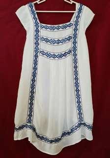 Topshop White Boho Dress