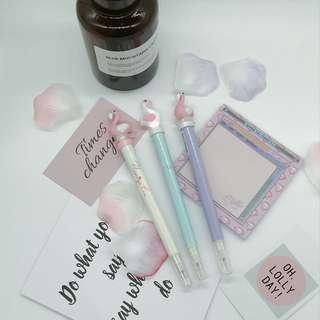 Cute pen ( FLAMINGO) with light