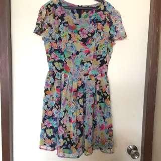 [TOPSHOP] Floral Flowy Dress
