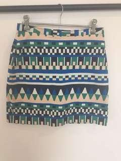 Gorman blue and green skirt