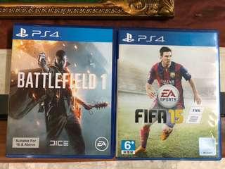 Battlefield 1 & fifa 2015