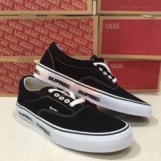 Vans Era x Supreme Black and White Premium