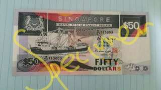 Brand New: Singapore $50 Dollar Ship Series Notes