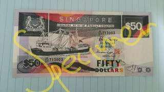 Brand New: Singapore $50 Dollar Ship Series Notes